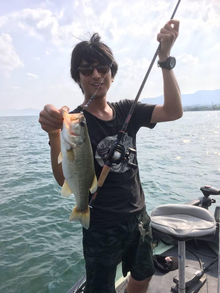 琵琶湖で釣ったバス