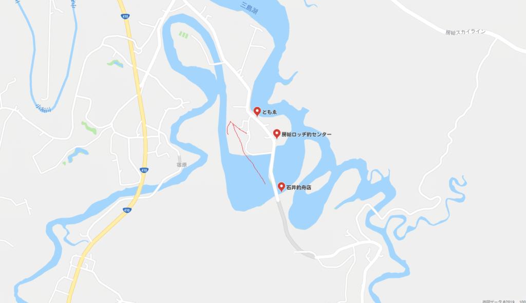 三島湖のマップ