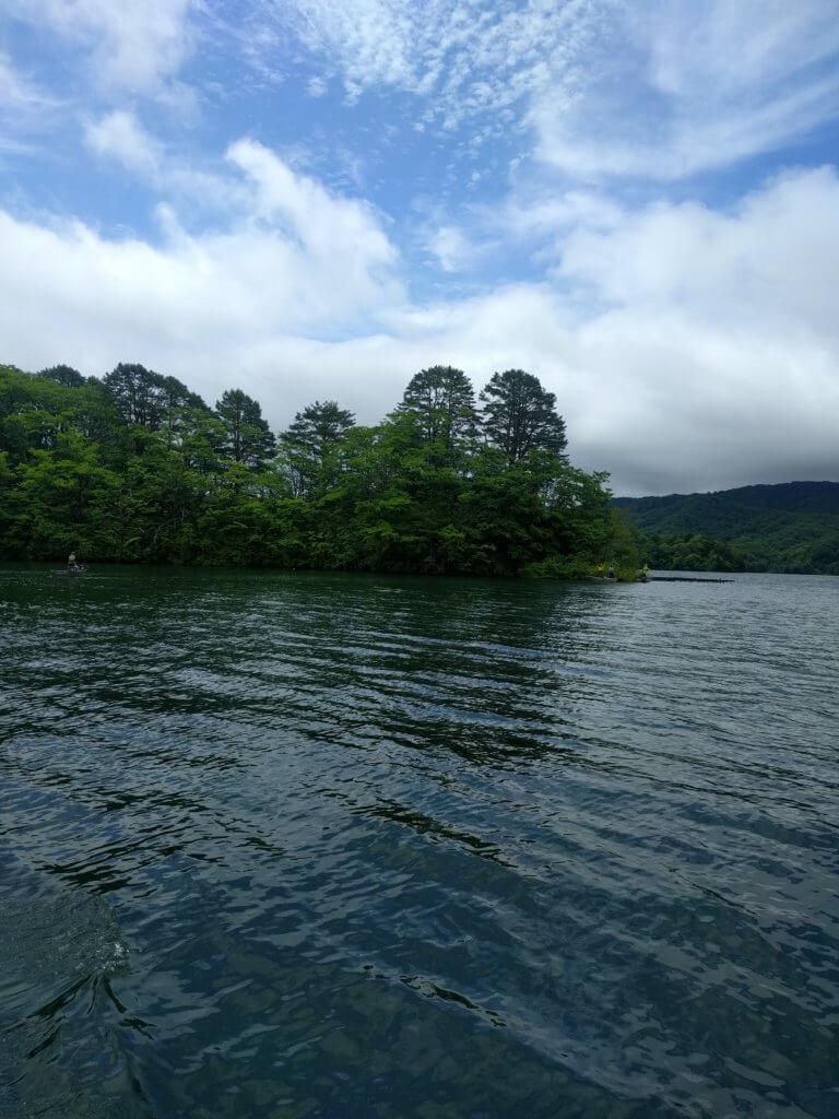 檜原湖での移動