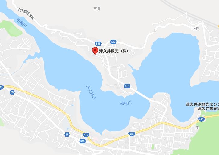 津久井観光の地図