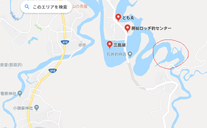 新たな三島湖ポイント