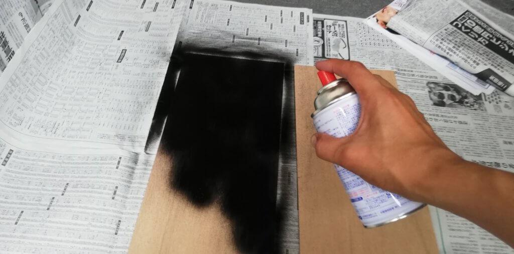 べニア板に色を付ける
