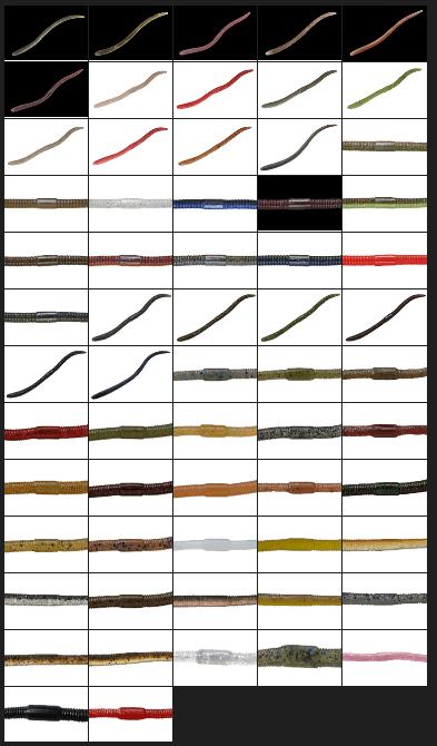 フリックシェイクのカラーラインナップ