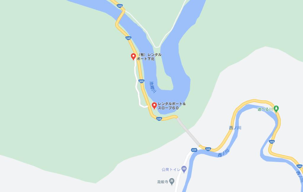 七色ダムのレンタルボート:下北