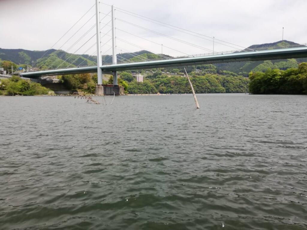 勝瀬橋を超えた大規模レイダウン