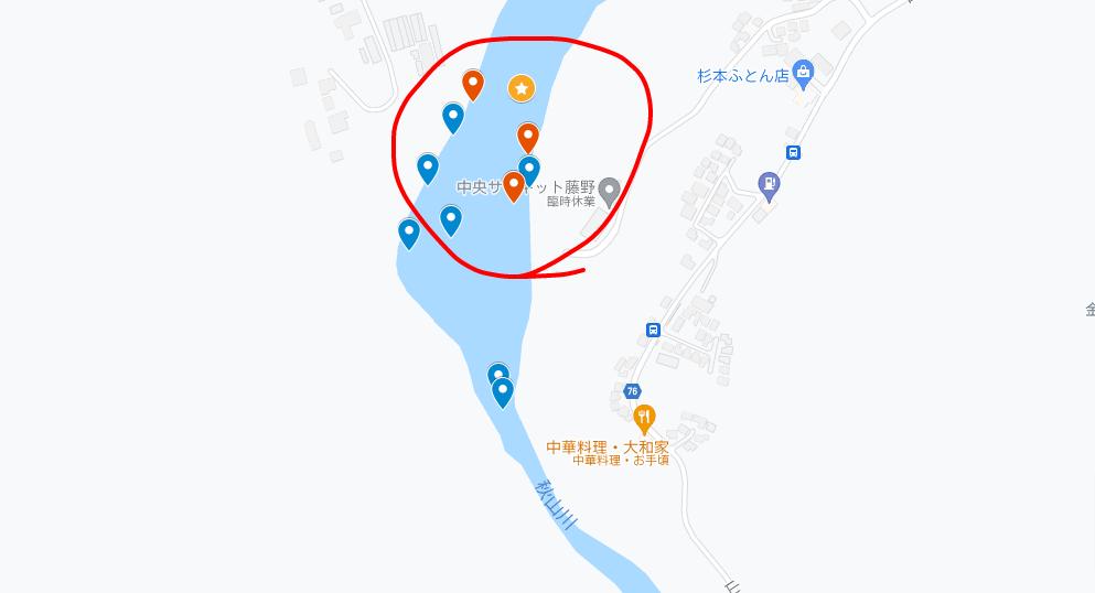 秋山川上流