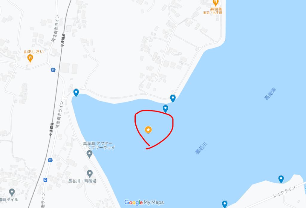 本湖西岸~UFOワンド