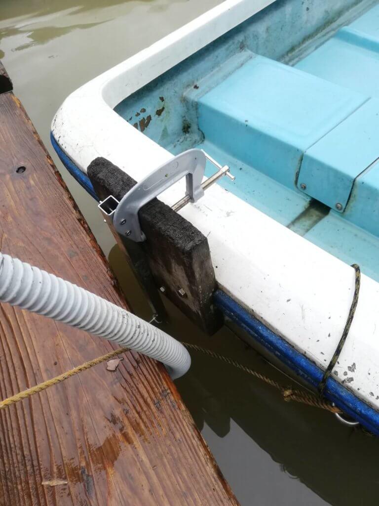 ローボートに取り付けたイメージ