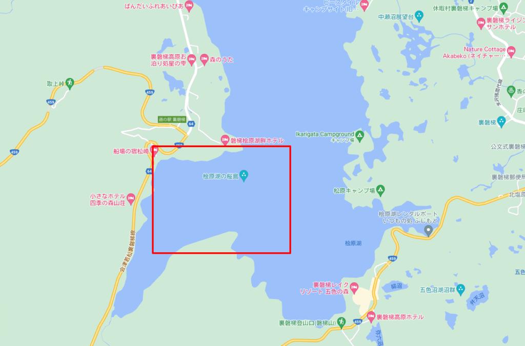 桧原湖いつものシャロ―エリア