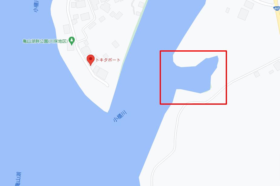 トキタボート対岸